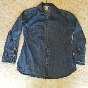 Tops - Fitted Jean shirt
